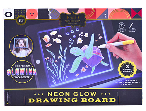 Neon Glow Drawing Board