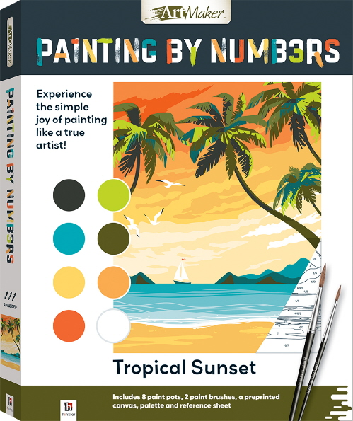 Tropical Sunset Painting by Numbers (Art Maker)