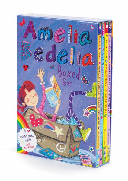 Amelia Bedelia Chapter Books Boxed Set (Goes Wild, Road Trip, Unleashed, Means Business)