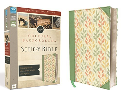 NIV Cultural Backgrounds Study Bible (Sage/Leaves Imitation Leather)