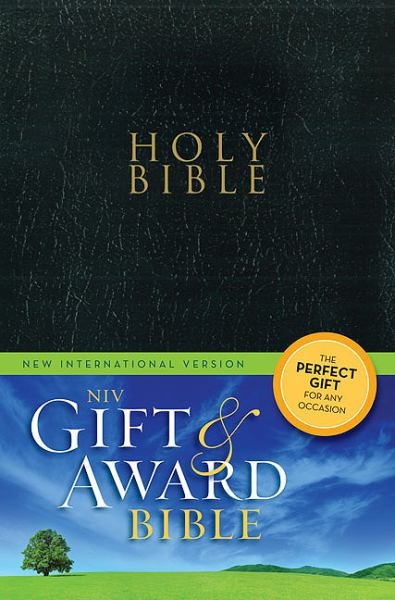 NIV Gift and Award Bible (NIV, Black Leather-Look)