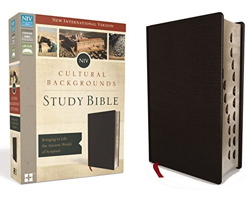 NIV Cultural Backgrounds Study Bible (Black Bonded Leather)
