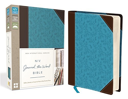NIV Journal the Word Bible (Brown/Blue Leathersoft)