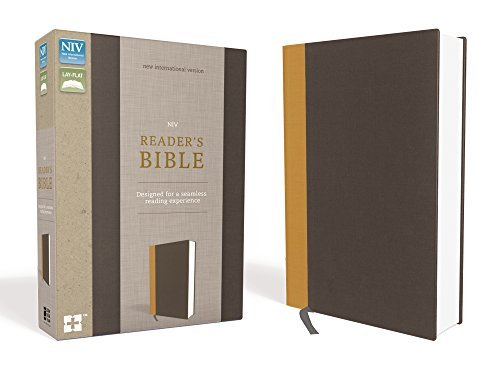 NIV, Reader's Bible (Gold/Gray Cloth Over Board)