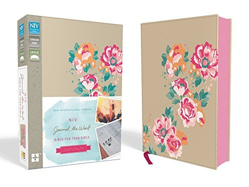 NIV Journal the Word Bible for Teen Girls (Gold/Floral Leathersoft Over Board)