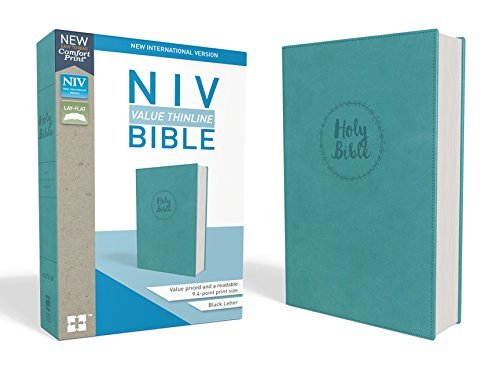 NIV Value Thinline Bible (Turquoise Leathersoft)