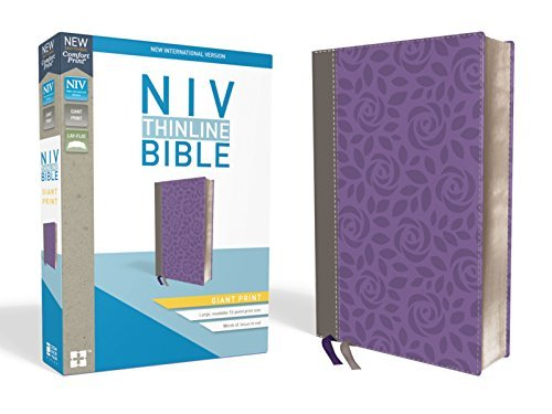 NIV Giant Print Thinline Bible (Gray/Purple, Leathersoft)