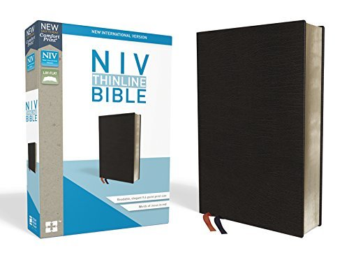 NIV Thinline Bible (Black Bonded Leather)