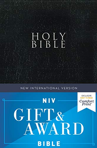 NIV Gift and Award Bible (Comfort Print, Black Leather-Look)