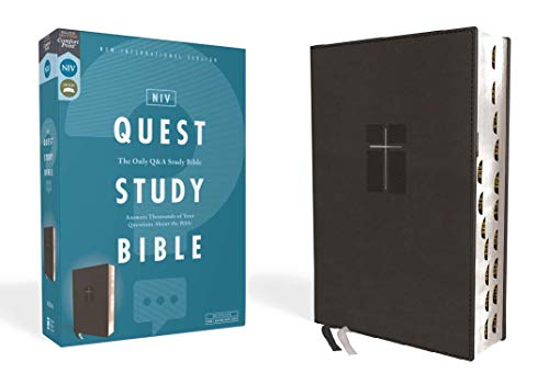 NIV Quest Study Bible (Black Leathersoft, Thumb Indexed)