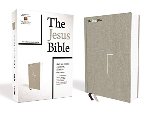 NIV The Jesus Bible (Gray Linen Cooth Over Board)