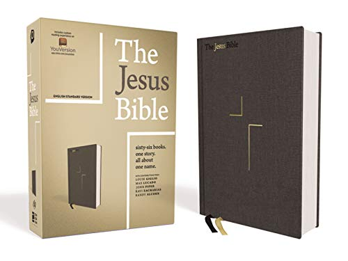 ESV The Jesus Bible (Charcoal Cloth Over Board)