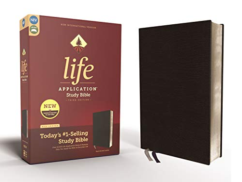 NIV Life Application Study Bible (3rd Edition, Black Bonded Leather)