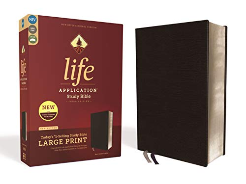 NIV, Large Print, Life Application Study Bible (Third Edition, Black, Bonded Leather)