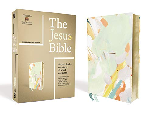 The Jesus Bible Artist Edition, ESV (Leathersoft, Multi-Color/Teal)