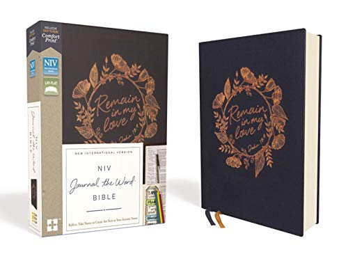 NIV Journal the Word Bible (Navy Cloth Over Board)