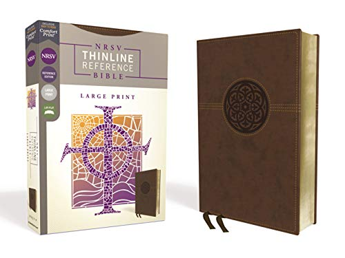 NRSV Thinline Reference Bible (Large Print, Brown Leathersoft)