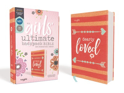 NIV, Girls' Ultimate Backpack Bible - Faithgirlz Edition (Coral Flexcover)