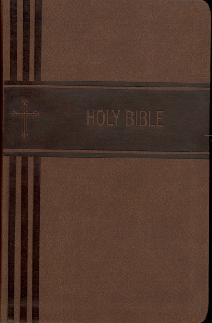 NIV Personal Size Giant Print Holy Bible (Brown Leathersoft)
