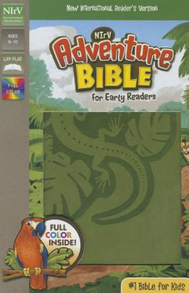 NIrV Adventure Bible for Early Readers (Jungle Green Italian Duo-Tone)
