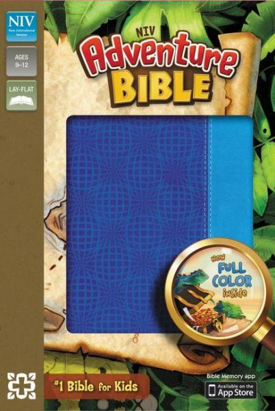 NIV Adventure Bible (Electric-Blue/Ocean Blue Italian Duo-Tone)