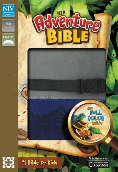 NIV Adventure Bible (Gray/Blue Leathersoft)