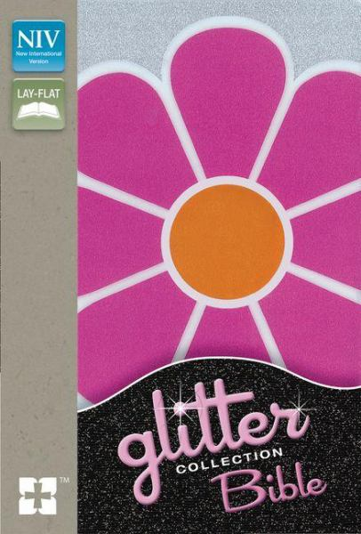 NIV Glitter Collection Bible (Pink Flower Clear View)