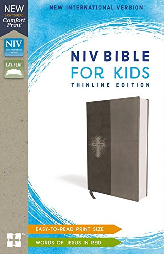 NIV Bible for Kids, Thinlne Edition (Gray Leathersoft)