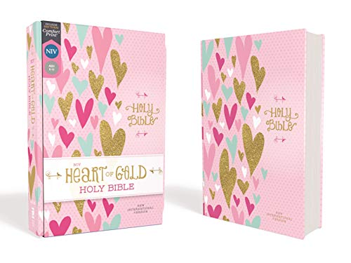 NIV, Comfort Print Heart of Gold Holy Bible (Hearts Hardcover)