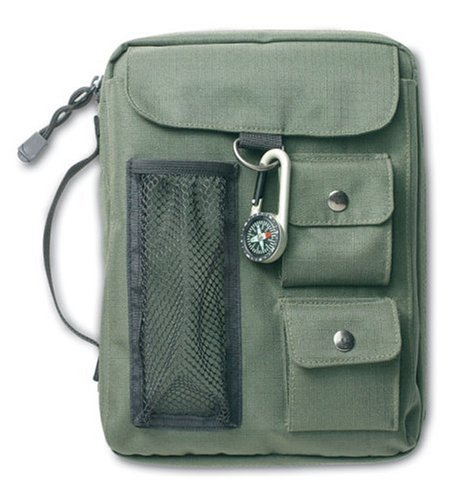Compass Bible Cover (Olive Green)