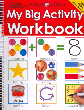 My Big Activity Work Book (With Free Wipe-Clean Pen)