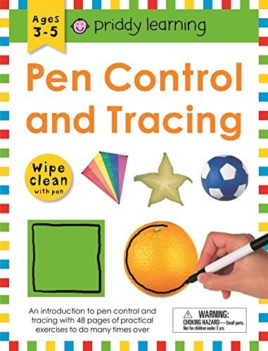 Pen Control and Tracing Wipe Clean Workbook With Pen (Priddy Learning)