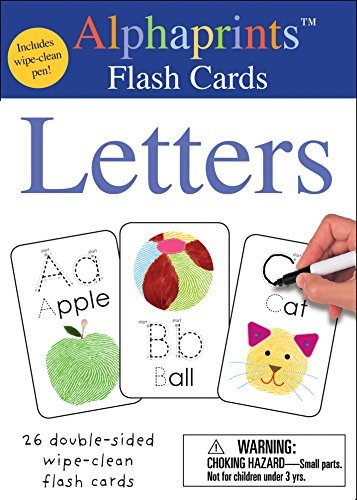 Letters (Alphaprints Wipe Clean Flash Cards)