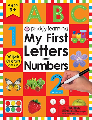 My First Letters and Numbers Wipe Clean Workbook with Pen