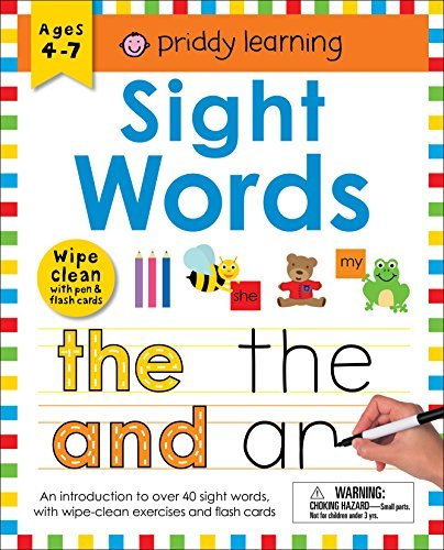 Sight Words Wipe Clean Workbook with Pen & Flash Cards