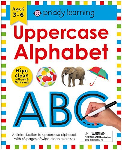 Uppercase Alphabet Wipe Clean Workbook with Pen & Flash Cards