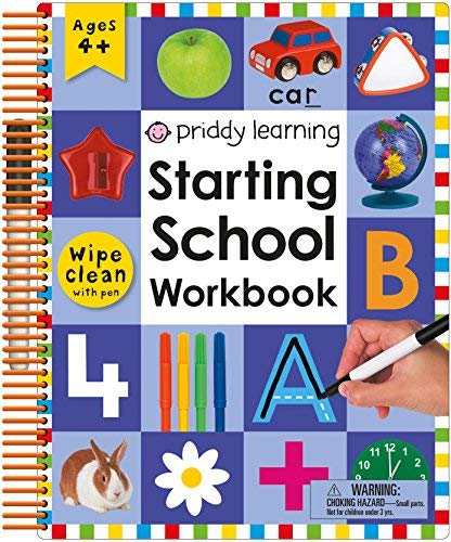 Starting School Wipe Clean Workbook with Pen (Priddy Learning)