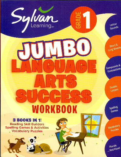 First Grade Jumbo Language Arts Success Workbook (Reading Skill Builders/Spelling Games & Activities/ Vocabulary Puzzles)