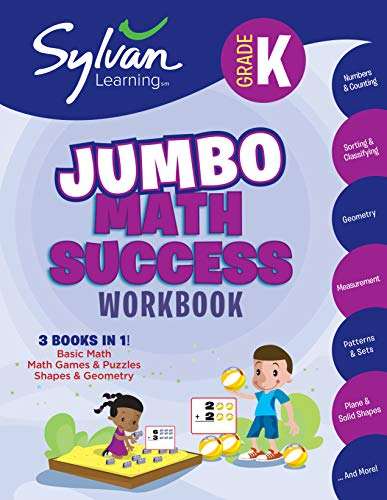 Jumbo Math Success Workbook (Sylvan Learning, Grade K)