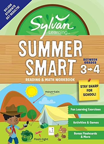Summer Smart Reading & Math Workbook: Between Grades 3 & 4 (Sylvan Learning)