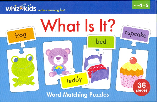 What Is It? Word Matching Puzzles (Whiz Kids)