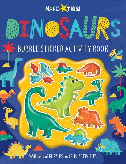 Dinosaur Bubble Sticker Activity Book