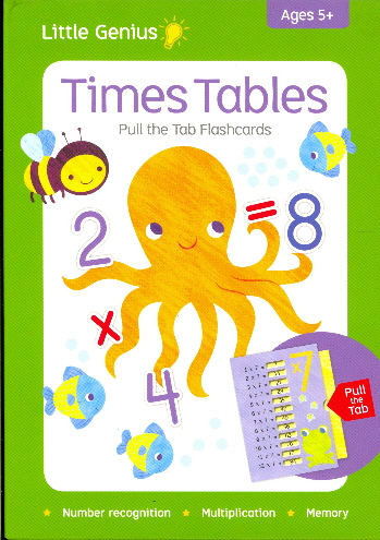 Times Tables Pull the Tab Flashcards (Little Genius)