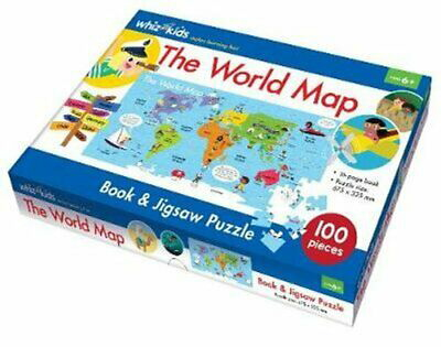The World Map Book and Jigsaw Puzzle (Whiz Kids)