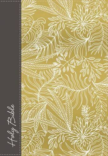 NKJV, Ultra Slim, Large Print, Classic Edition Reference Bible (Cloth Over Board, Yellow/Gray)