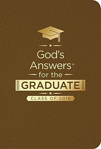 God's Answers for the Graduate: Class of 2018 - Brown NKJV - New King James Version