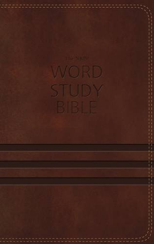 NKJV Word Study Bible (1433, Brown Imitation Leather)