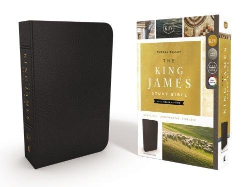 The King James Study Bible (Full Color Edition, Black Genuine Leather)