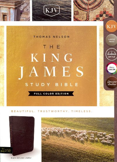 The King James Study Bible (Thumb Indexed, Genuine Black Leather)