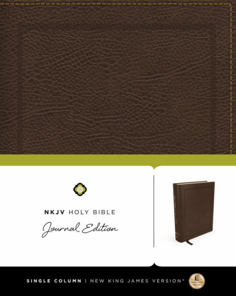 NKJV, Holy Bible, Journal Edition (5583A Brown Bonded Leather)